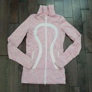 Lululemon Pink Striped In Stride Jacket Size 2